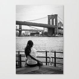 Looking at Brookling Bridge Canvas Print