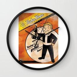 Nuka Beer Poster Wall Clock