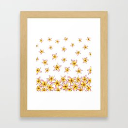 Lillies - Handpainted pattern - white background Framed Art Print