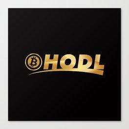 Bitcoin Hodl (Hold) Canvas Print
