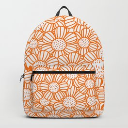 Field of daisies - orange Backpack
