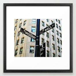 Broadway Meets Wall Street Framed Art Print