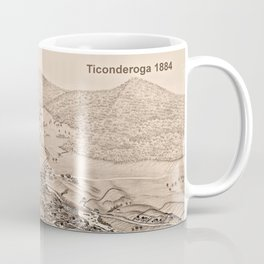 Ticonderoga Map 1884 (Sepia) Coffee Mug