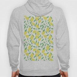 Lemons and Leaves Pattern Hoody