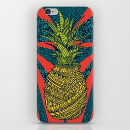 Pineapple wrap  color  iPhone Skin