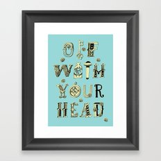 Off With Your Head Framed Art Print