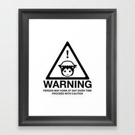 Honk warning Framed Art Print