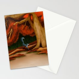 Blue Fox at The Dark Pool of Malkkaard Stationery Cards