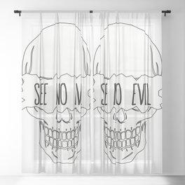 See No Evil Sheer Curtain