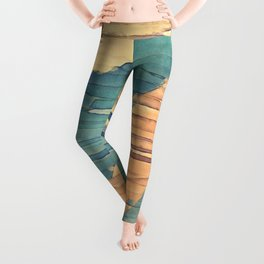 Abstract Shredded Stripes Leggings