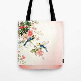 VINTAGE LOVE BIRDS | blush pink white Tote Bag