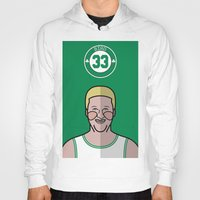 larry Hoodies featuring Larry Bird by Will Wild