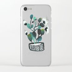 Noir Cactus Clear iPhone Case