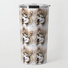Tika'ani unser sibirischer Husky. Travel Mug