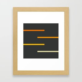 Abstract Minimal Retro Stripes Ashtanga Framed Art Print
