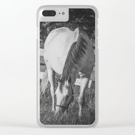 Gray Mare & Foal Clear iPhone Case