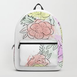 Friday fresh collection , pastel colors flowers . Home decor Backpack