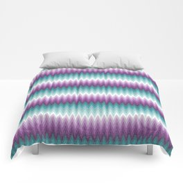 Ombre Chevrons - Plum and Teal Comforters