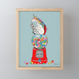 Unicorn Gumball Poop Framed Mini Art Print