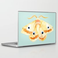 moth Laptop & iPad Skins featuring moth by terastar