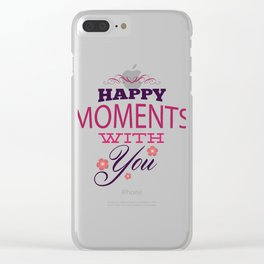 Happy Moments With You - Valentines Day Clear iPhone Case