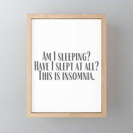 Insomnia Framed Mini Art Print