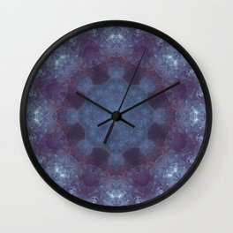 Mandala Purple Wall Clock