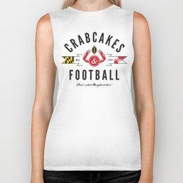 Crabcakes & Football Biker Tank