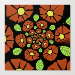 The Red Flower Polka Canvas Print