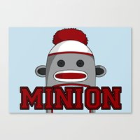 minions Canvas Prints featuring Misha's Minions by Evie Bird
