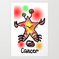 cancer Art Prints featuring cancer  by sladja