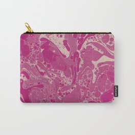 Psychedelic Ink Marbling Carry-All Pouch