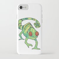 chameleon iPhone & iPod Cases featuring Chameleon by Suzanne Annaars