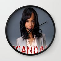 scandal Wall Clocks featuring SCANDAL by I Love Decor