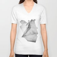 triangle V-neck T-shirts featuring triangle by Katekima