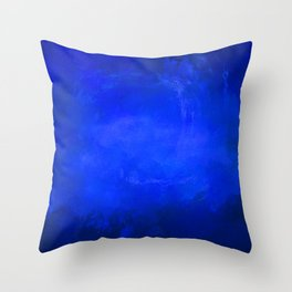 Deep Ocean Blue Throw Pillow