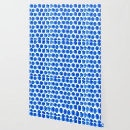 Blue acrylic circles pattern Wallpaper