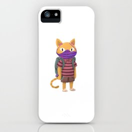 Back to school Cute Animal Kid Student iPhone Case