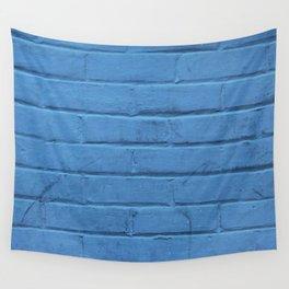 Urban Brick - Blue Jazz Wall Tapestry