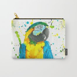 Blue & Gold Macaw - Watercolor Painting Carry-All Pouch
