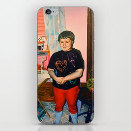 Self Portrait with Barbie, Age Seven iPhone Skin