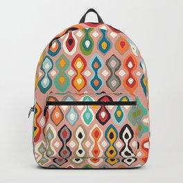 brocade coral pink Backpack