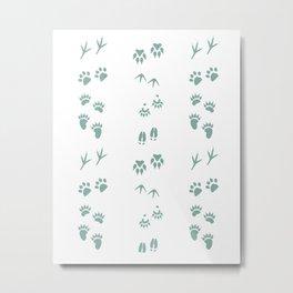Tracks (Moss) Metal Print