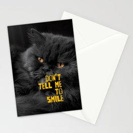 Don't Tell Me to Smile Stationery Cards