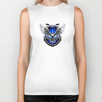 ravenclaw Biker Tanks featuring HARRY POTTER RAVENCLAW by Veylow