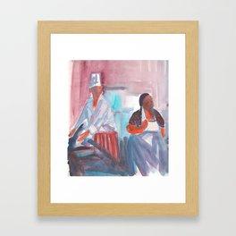 à la cuisine Framed Art Print