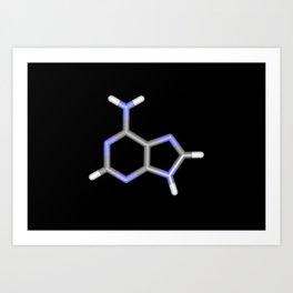 Adenine stick structure Art Print