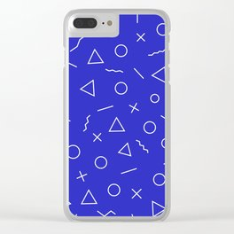 MEMPHIS ((berry blue)) Clear iPhone Case