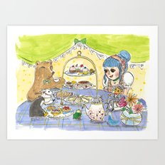 high tea party Art Print