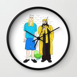 Bob the dog and Jay the human Wall Clock